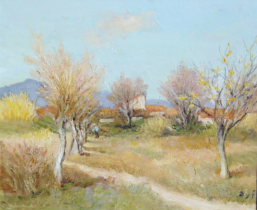 Un verger au printemps de Marcel Dyf (1899-1985, France)