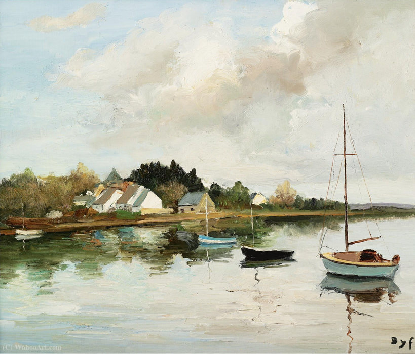 Point d angle à Brillac, (1980) de Marcel Dyf (1899-1985, France)