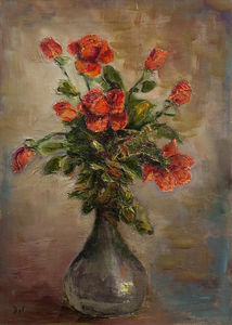 Marcel Dyf - roses rouges