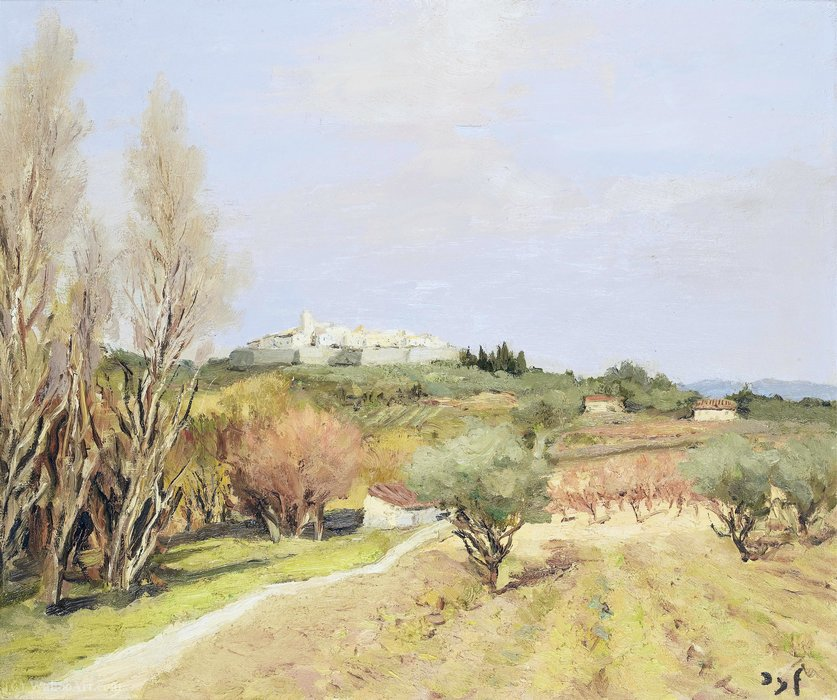 La plaine de Saint-Paul de Marcel Dyf (1899-1985, France) | Reproductions D'art De Musée | ArtsDot.com