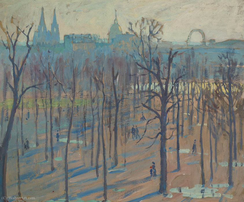 Achat Reproductions D'art | Les jardins des Tuileries de William S Horton | ArtsDot.com