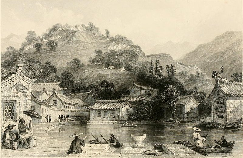 Colombie Campement sur Irgao-Shan de Thomas Allom