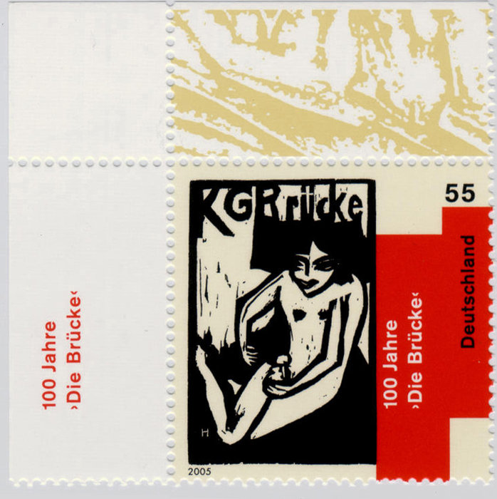 Briefmarke KG Bruecke de Erich Heckel (1883-1970, Germany)