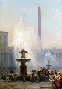 Friedrich Nerly - Piazza San Pietro, Rome