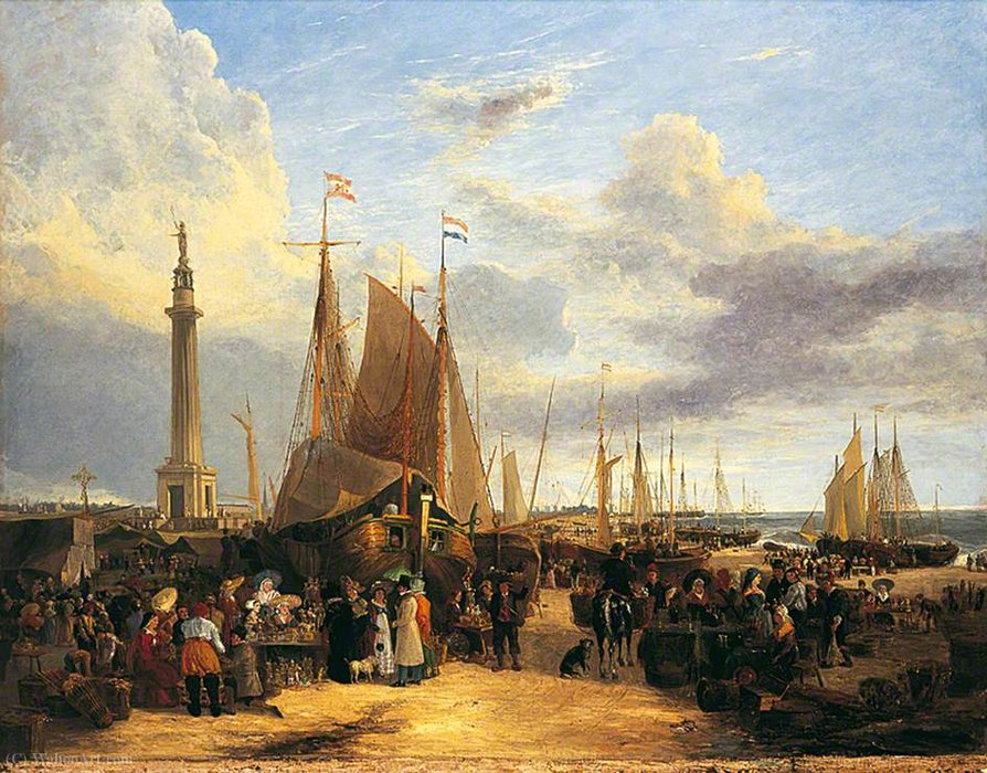 Néerlandais Foire sur Yarmouth Beach, Norfolk de George Vincent (1796-1831, United Kingdom)