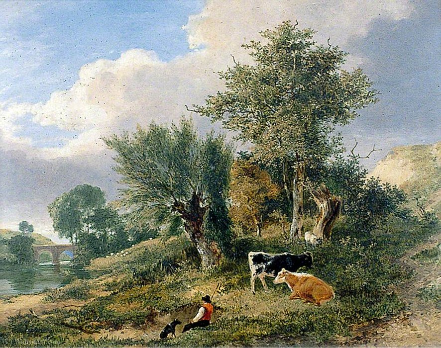Vue près de Norwich de George Vincent (1796-1831, United Kingdom)