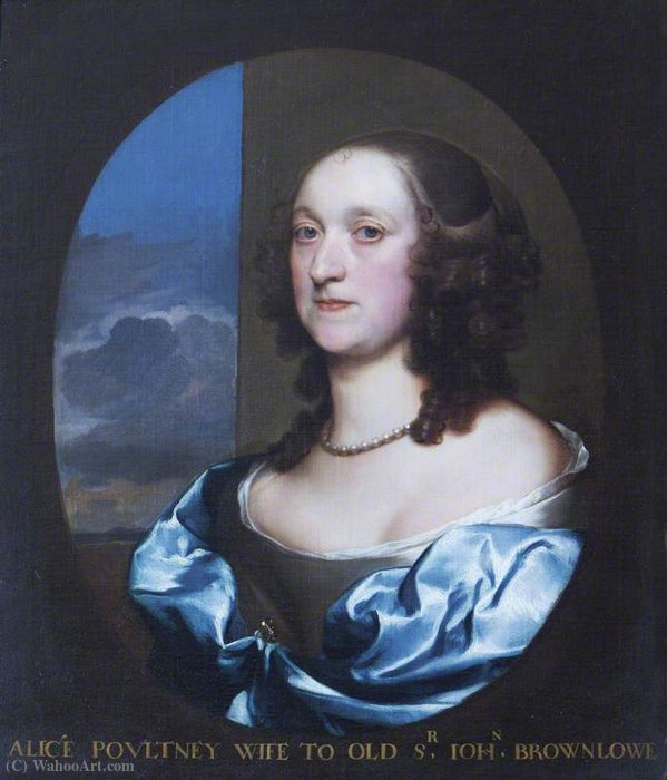 Alice Pulteney de Gerard Soest (1600-1681, Germany)