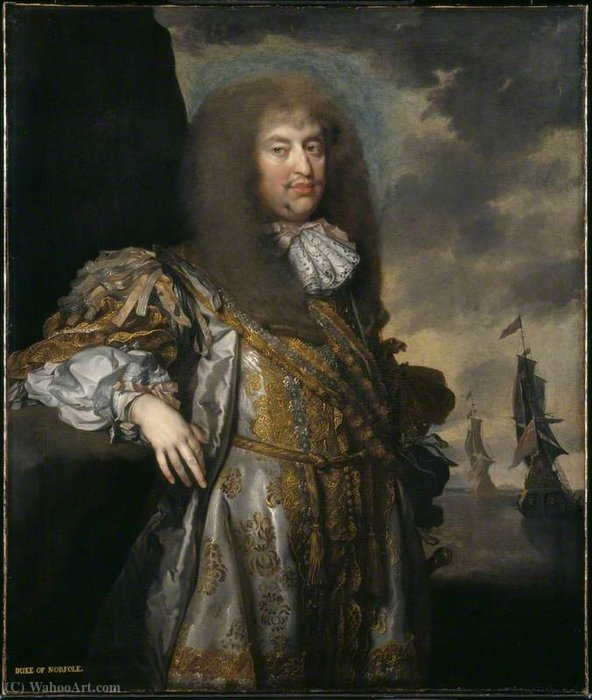 Henry Howard, 6e duc de Norfolk de Gerard Soest (1600-1681, Germany)