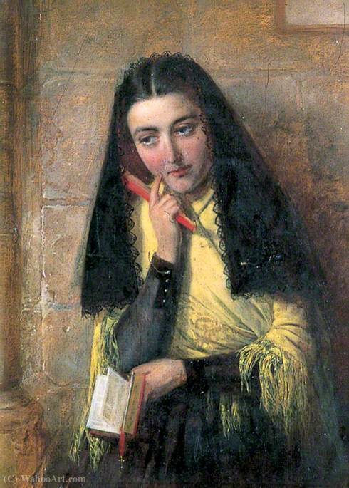 Fille espagnole de John Bagnold Burgess (1829-1897, United Kingdom)
