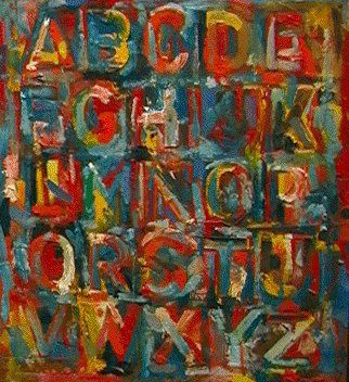 de couleur abc  de Jasper Johns