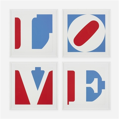 quatre lambris  amour  de Robert Indiana
