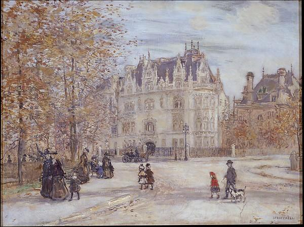 le fletcher mansion , new york ville, 1899 de Jean-François Raffaelli (1850-1924, France) | Reproductions D'art De Musée | ArtsDot.com