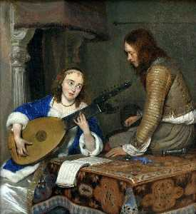 Gerard Ter Borch The Youn.. - Le joueur de luth