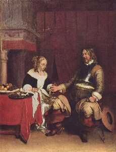 Gerard Ter Borch The Youn.. - le gallant Soldat