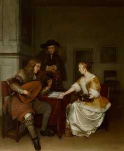 Gerard Ter Borch The Youn.. - Le Duet