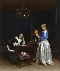 Gerard Ter Borch The Youn.. - la lettre
