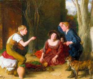 William Mulready The Younger - la Bout  tir  une  Cerise