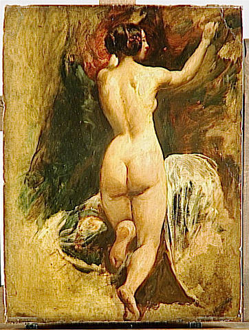 FEMME NUE VUE DE DOS de William Etty (1787-1849, United Kingdom) | Reproductions D'art De Musée William Etty | ArtsDot.com