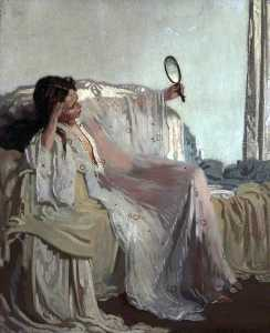 William Newenham Montague Orpen - une à de lest  robe