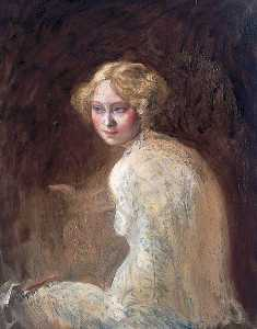 William Newenham Montague Orpen - chef d-un fille