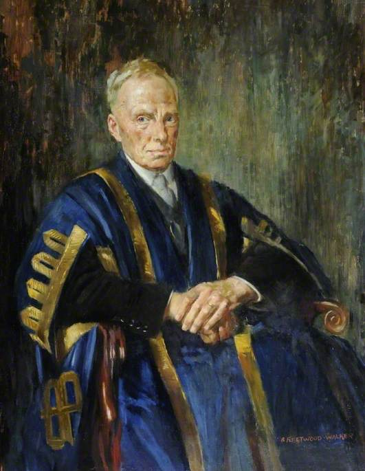 dr edward bramley ( 1868–1969 ), 1950 de Bernard Fleetwood Walker (1893-1965, United Kingdom) | Reproductions De Qualité Musée | ArtsDot.com