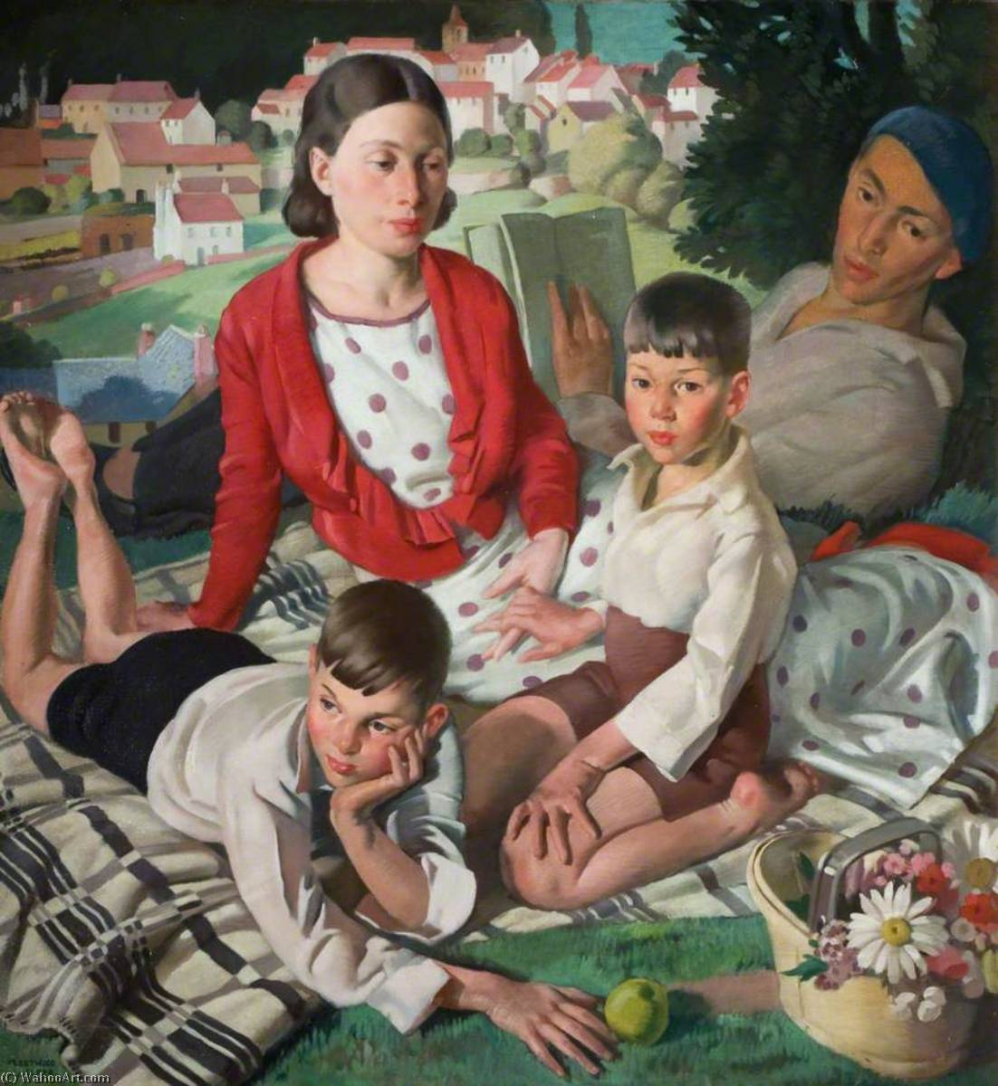 la famille de Bernard Fleetwood Walker (1893-1965, United Kingdom) | Copie Tableau | ArtsDot.com