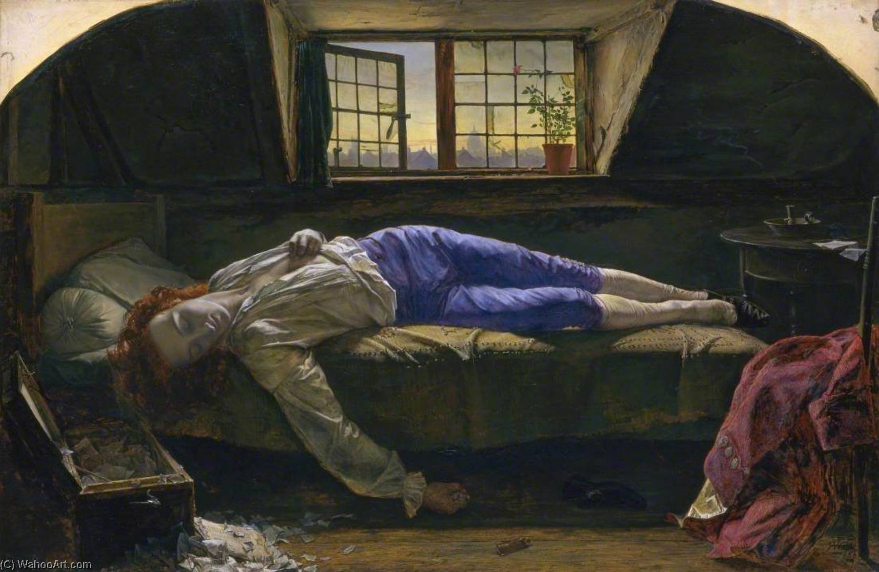Chatterton, 1856 de Henry Wallis (1830-1916) | Reproduction Peinture | ArtsDot.com