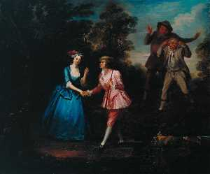 William Jones - damon et phillida réconciliés une scène de colley Cibber's 'Damon et Phillida'