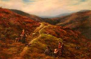 William Linnell - lancienne mont  route