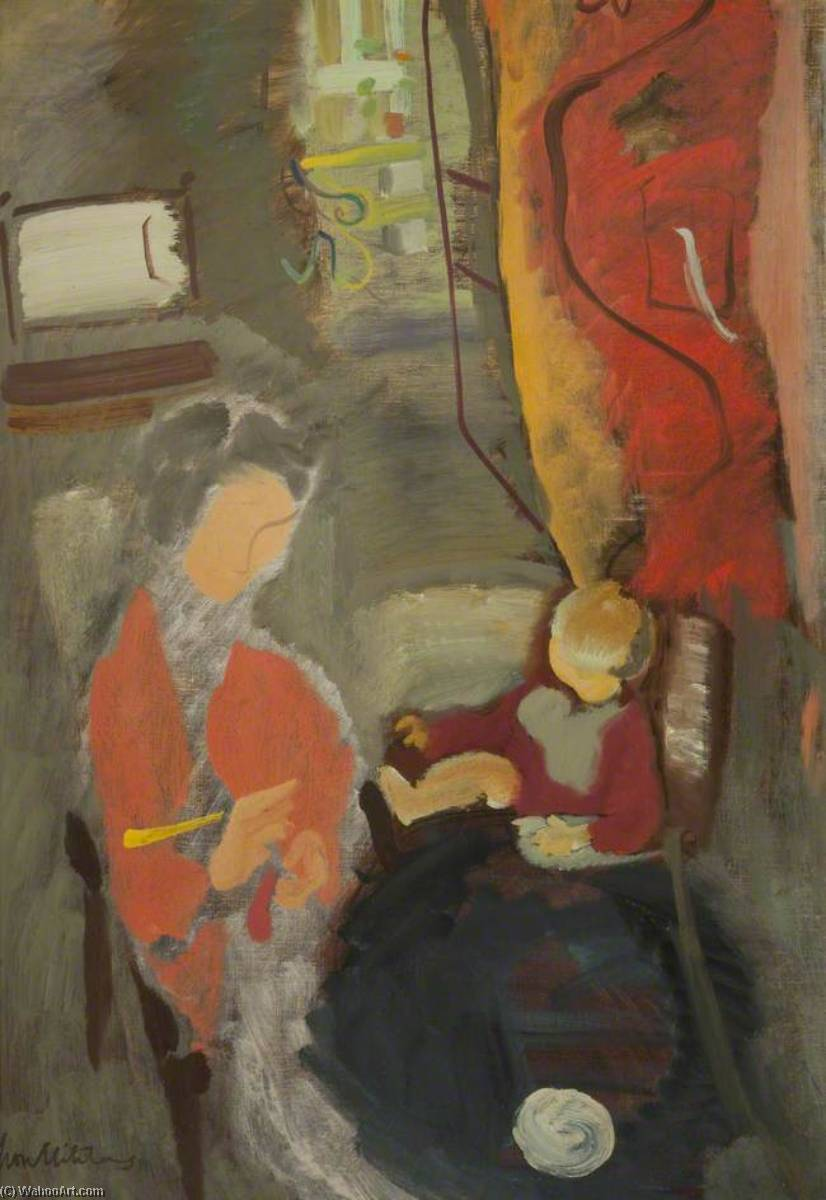 le rouge rideau , 1940 de Ivon Hitchens | Reproduction Peinture | ArtsDot.com