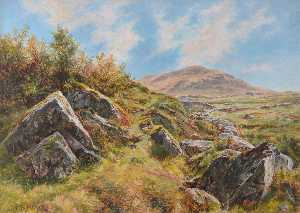 Frederick William Hayes - près de snowdon