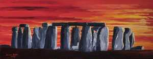 Michele Elizabeth Field - red stonehenge