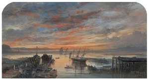 William Muir - Coucher du soleil de girv..