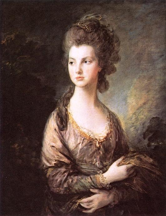 l hon . Mme . Thomas De graham, 1777 de Thomas Gainsborough (1727-1788, United Kingdom) | Reproductions D'art De Musée Thomas Gainsborough | ArtsDot.com