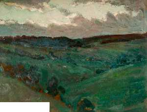 Walter J Donne - Une moorland paysage , St..