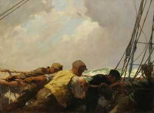 Arthur John Trevor Brisco.. - Transport la  Grand voile..