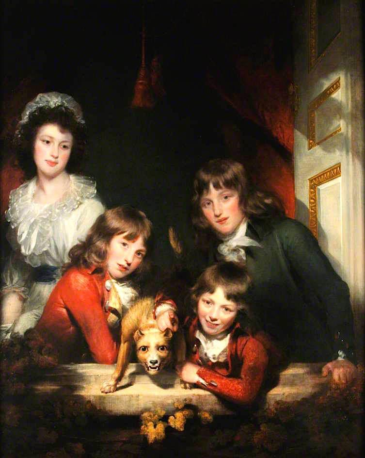 famille portrait de William Beechey (1796-1856, United Kingdom) | Reproductions D'art Sur Toile | ArtsDot.com
