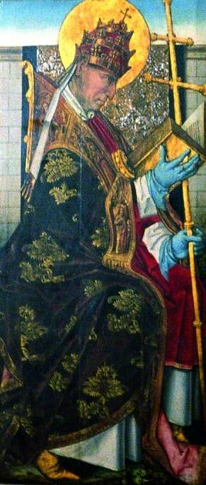 St Gregory ( verso ), 1470 de Master Of The View Of Saint Gudule | Reproductions D'art De Musée | ArtsDot.com