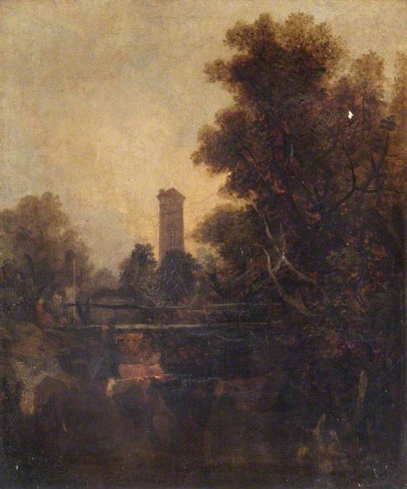 Une Norwich bishop La tour , Norfolk de John Berney Crome (1768-1821) | Reproductions D'art Sur Toile | ArtsDot.com