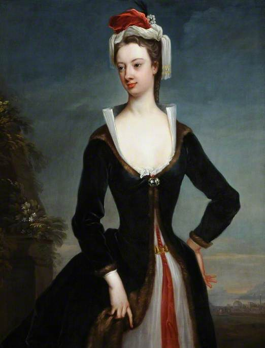 mary wortley montagu 1689–1762  , 1718 de Jonathan Richardson The Elder (1667-1745) | Reproductions D'art De Musée | ArtsDot.com