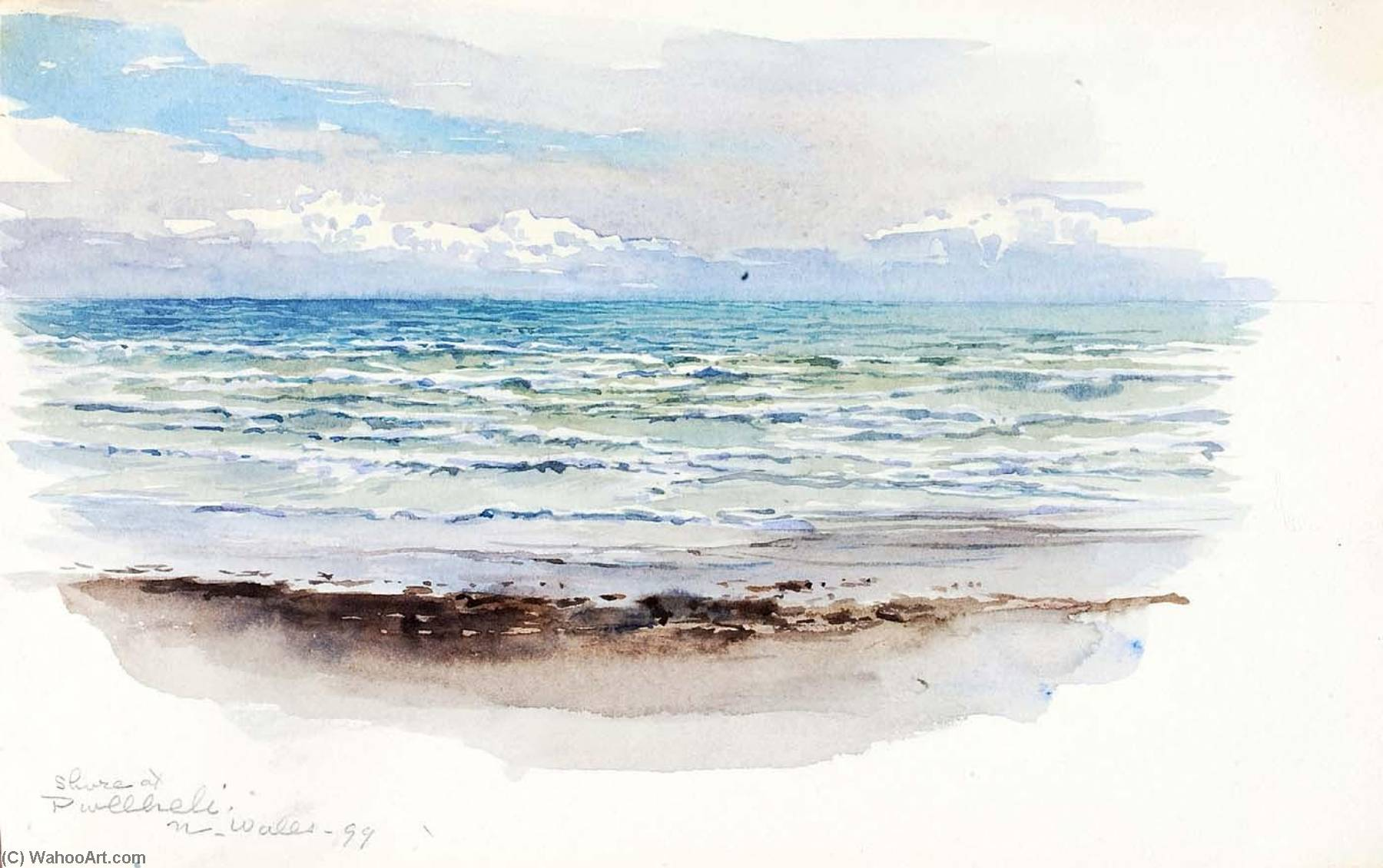 shore à pwllheli , N . Galles, 1899 de George Elbert Burr | Reproduction Peinture | ArtsDot.com