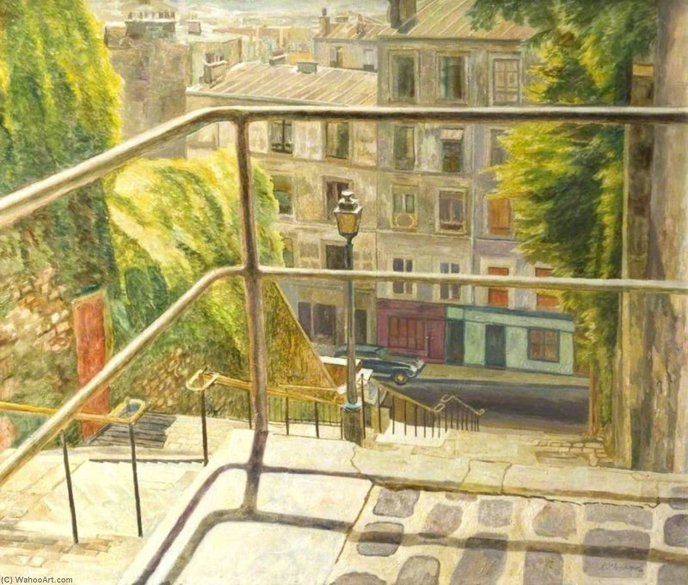 butte Montmartre Paris  France  de Arthur Henry Andrews | Reproductions D'art De Musée | ArtsDot.com
