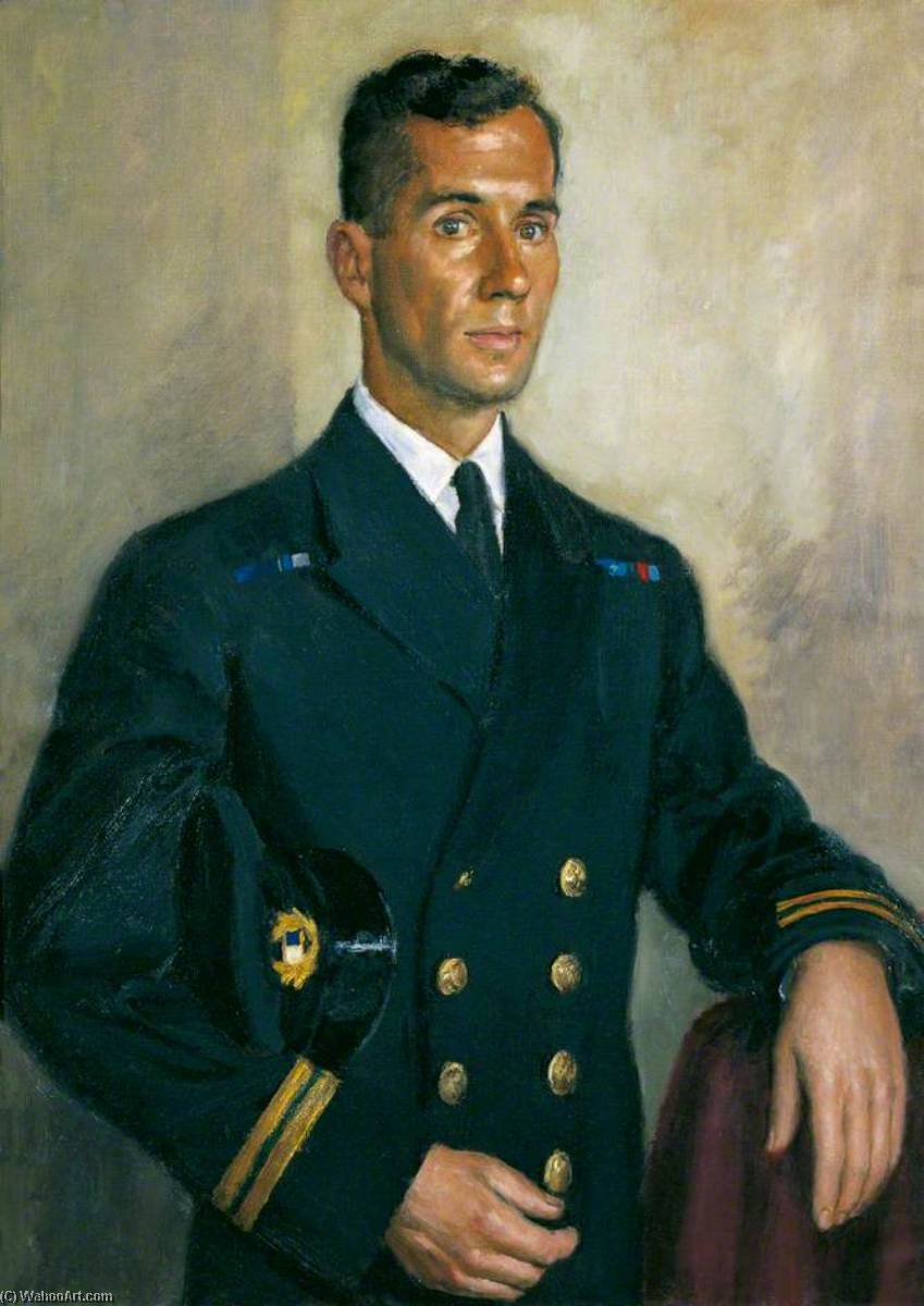 Radio Officier james gordon melville Turner , GC, 1945 de Bernard Hailstone | Copie Tableau | ArtsDot.com