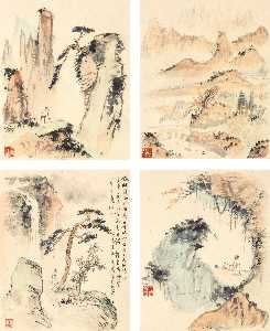 Qian Shoutie - Paysages de mount huang