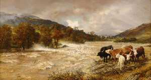 Henry William Banks Davis - le inondations